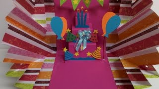 getlinkyoutube.com-Art and Craft: How to make Explosion Pop up Birthday Card