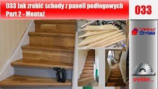 getlinkyoutube.com-033 Jak zrobić schody z paneli podłogowych Part 2 Montaż