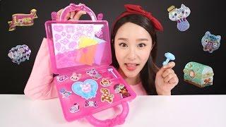 getlinkyoutube.com-캐리의 아이엠스타 반짝이스티커 가방세트 장난감 만들기 놀이 CarrieAndToys