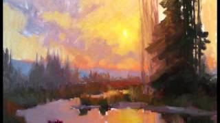 getlinkyoutube.com-Becky Joy Fine Art, Sunset and Water oil painting demo