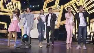 getlinkyoutube.com-JaDine, Kathniel and LizQuen together performance in Showtime Kapamilya Day at Araneta Sept 26, 2015