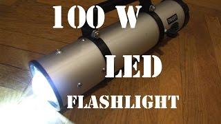 getlinkyoutube.com-DIY 100W LED Flashlight