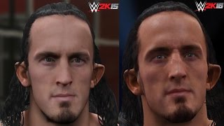 WWE 2K16 vs WWE 2K15 Superstar Face Comparison 2 (Roman Reigns, Daniel Bryan, Sting and more!)