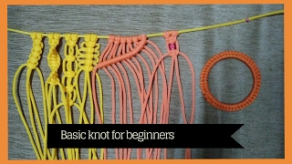 getlinkyoutube.com-Basic macrame knots for Beginners | learn Macrame Art