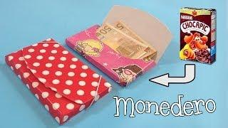 getlinkyoutube.com-Monedero de cartón | Manualidades con reciclaje