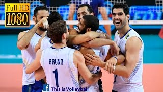 getlinkyoutube.com-Brazil vs Italy | 13 July 2016 | Final Round | 2016 FIVB Volleyball World League
