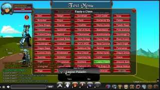 getlinkyoutube.com-AQW Combat Test Server How to Load Items, Level Up, Item List