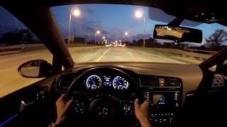 getlinkyoutube.com-2015 Volkswagen Golf R (DSG) - WR TV POV Night Drive