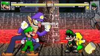 getlinkyoutube.com-Mugen: Mama Luigi & Waluigi vs Mr.L & Shazam123