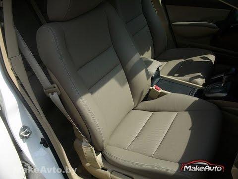 Перетяжка салона сидений ручек и потолок в Honda Civic