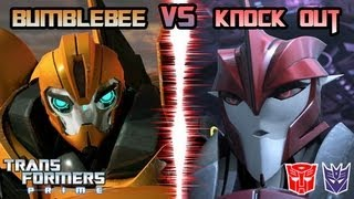 getlinkyoutube.com-Transformers Prime: The Game - Bumblebee Vs. Knock Out