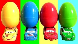 getlinkyoutube.com-Learn Colors with Lightning McQueen Surprise Eggs  디즈니카 2 깜짝 계란 장난감  ◕‿◕  カーズ ライトニング・マックィーン