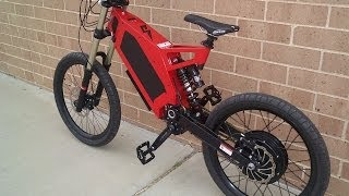 getlinkyoutube.com-Stealth Bomber Electric Bicycle. Fastest Production eBike