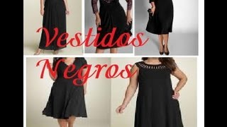 getlinkyoutube.com-Vestido Negro Fiesta gorditas