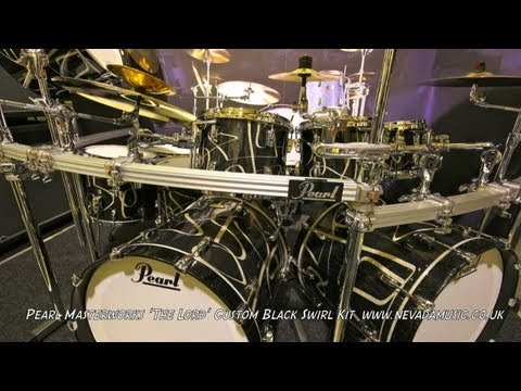 Pearl Masterworks Drum Kit 'The Lord' Custom Black Swirl - Nevada Music UK