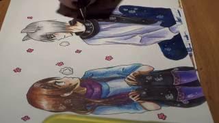 getlinkyoutube.com-Очень приятно, Бог / Kamisama HAJIMEMASHITA / Very nice, God / Drawing Anime / Nanami  and Tomoe