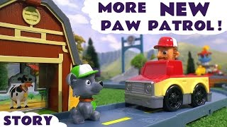 getlinkyoutube.com-Paw Patrol and funny Minions Toy Story - Rocky's Roll Along Cow Rescue Playset Toys Family Fun TT4U