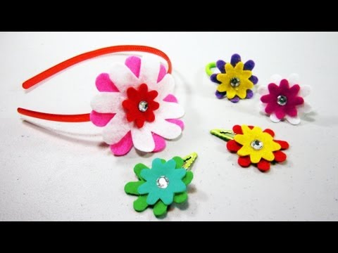 Episodio 558- Cmo hacer varios accesorios con flores de fieltro