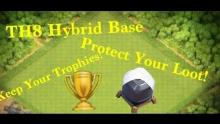 getlinkyoutube.com-TH8 Hybrid Base!|Protect Your Loot & Trophies!|Anti-Drag|Anti-Barch|Effective Traps!| Clash of Clans
