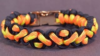 "getlinkyoutube.com-How to Make the ""Navajo Pattern"" Paracord Survival Bracelet - BoredParacord!"