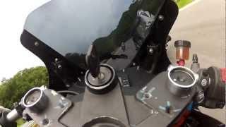 getlinkyoutube.com-Benz Racing got hit in KAWASAKI EX250 NINJA250 at Bonanza