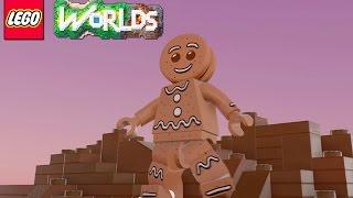 LEGO Worlds - Part 10 [Gingerbread Man - 28 Gold Bricks] - Xbox One Gameplay