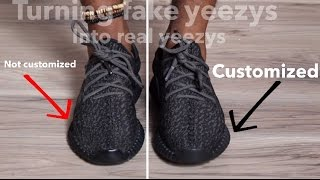 getlinkyoutube.com-CUSTOMIZING FAKE YEEZYS TO LOOK LIKE REAL YEEZYS