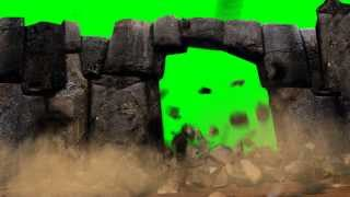 getlinkyoutube.com-Green Screen Explosion Stone Door HD - Footage PixelBoom