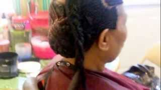 getlinkyoutube.com-Various Cornrow Styles 2 Help N Hair Growth... www.stylesbykennycoo.com Mobile Braid Service