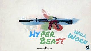 getlinkyoutube.com-Counter Strike: GO M4A1-S Hyper Beast Well Worn Showcase!