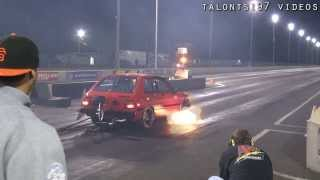 getlinkyoutube.com-Turbo Starlet goes KABOOM & 7-sec RX-7 makes a pass!