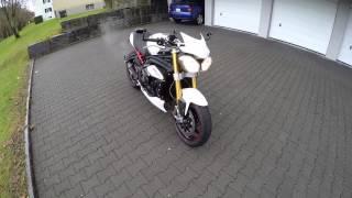 getlinkyoutube.com-Triumph Speed Triple R 2013 with Remus Shorty sound check