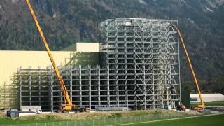 getlinkyoutube.com-Enstehung des höchsten Hochregallagers der Schweiz