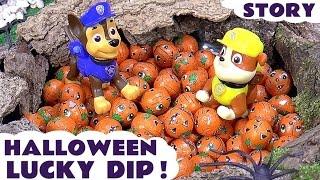 getlinkyoutube.com-Paw Patrol Halloween Lucky Dip with Thomas & Friends | Minions Kinder Surprise Eggs Star Wars