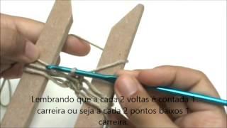 getlinkyoutube.com-Ponto Baixo no Crochê de Grampo- Por Novelândia