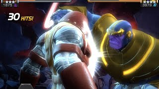 getlinkyoutube.com-Thanos Enters Quest, Boss Battle, and Free 4-Star Hero Crystal | Marvel Contest of Champions