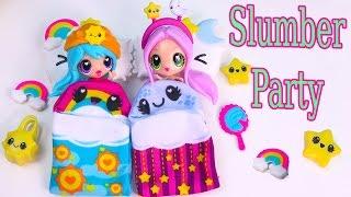 getlinkyoutube.com-Kawaii Crush Sleep Over Day and Night BFF Slumber Party Doll Playset Pack Cute Stars Rainbows
