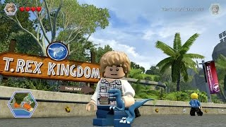 getlinkyoutube.com-LEGO Jurassic World - Gray Mitchell Free Roam Gameplay (PC HD) [1080p]