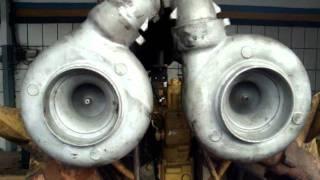getlinkyoutube.com-Motor Caterpillar  992  V - 12 funcionando