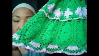 getlinkyoutube.com-Платье малышке крючком Майские цветы и болтовня о вязании