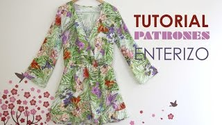 getlinkyoutube.com-DIY Tutorial y patrones: Mono / Enterizo estampado