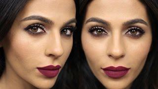 getlinkyoutube.com-Dark Matte Lipstick Tutorial  | Get Ready With Me Makeup Tutorials | Teni Panosian