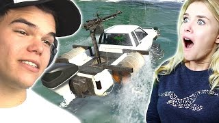 DRIVING CARS ON WATER! W/Jelly (NEW GTA 5 DLC)