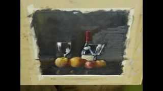 getlinkyoutube.com-Still Life time lapse Oil Painting Demonstration