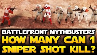 getlinkyoutube.com-Star Wars Battlefront - How Many Enemies Can 1 Sniper Shot Kill?  Mythbusters #5