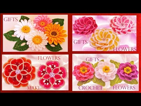 Como hacer flores rosas margaritas a crochet y ganchillo - How to crochet a flower