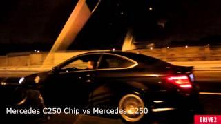 getlinkyoutube.com-Mercedes C250 vs Mercedes C250 chip