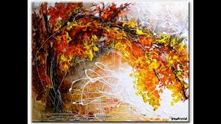 Amazing landscape abstract painting by Peter Dranitsin - Shared Memories - acrylics on canvas