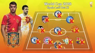 FIFA World Cup 2018 : Spain Left Out XI ⚽ Morata, Fabregas, Marcos Alonso & More ⚽ Footchampion
