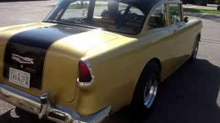 getlinkyoutube.com-1955 Chevy gasser for sale. Hot rod old school bel air street rod rat rod muscle car drag car